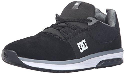 DC Heathrow IA Skate Shoe, Black/Grey/White, 9 M US