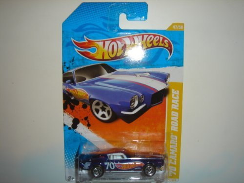 2011 Hot Wheels '70 Camaro Road Race Dark Blue #47/244
