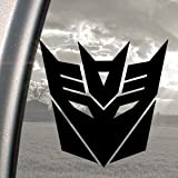 DECEPTICONS TRANSFORMERS Black Decal Truck Window Sticker