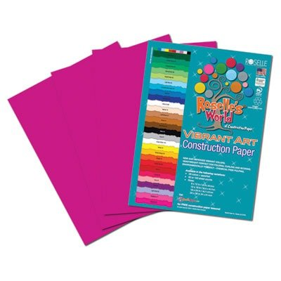 Roselle Vibrant Construction Paper, 50 count, 9 x12 Inches, Magenta (CON2091250) - 1