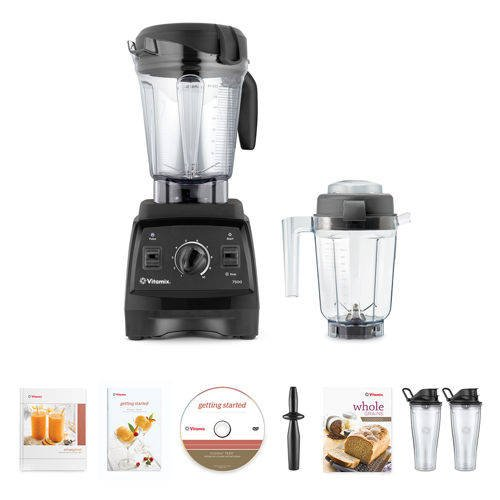 For Sale! Vitamix 7500 Blender Super Package, with 32oz Dry Grains Jar and 2- 20oz To-Go Cups (Black...