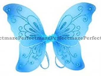 "Perfectmaze 21""x14"" Sparkling Fairy Butterfly Wings Dress Up Pixie Costume Halloween"