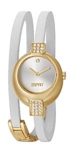 Esprit - ES105662003 - Bubble - Montre Femme - Quartz Analogique - Cadran Argent/Doré - Bracelet Cuir Blanc