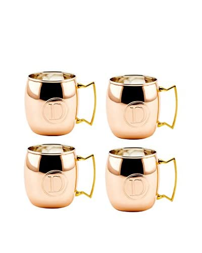 Old Dutch Set of 4 Copper 16-Oz. Moscow Mule Mugs Monogrammed D