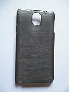 Silk Pattern Hard Plastic Back Cover for Samsung Galaxy Note 3 - Black