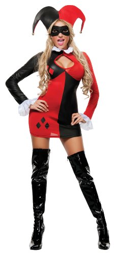 Harley-Quinn Sexy 3 Piece Costume Dress Set