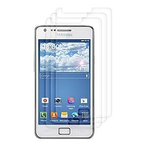 3x kwmobile Folie matt für Samsung Galaxy S2 S2 PLUS Displayschutzfolie - Schutzfolie Displayschutz Anti-Fingerabdruck Displayfolie entspiegelt