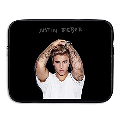 Justin Bieber Logo Resistant Notebook Carrying Bag Case 13-15 Inch
