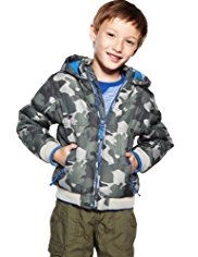 Funnel Neck Camouflage Hooded Jacket with Stormwear™