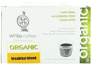 White Coffee Single Serve Coffee, Breakfast Blend, 10 Count