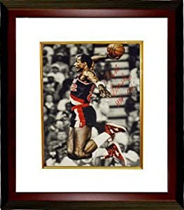 Clyde Drexler signed Portland Trail Blazers 16x20 Photo HOF 04 Custom Framed by Athlon Sports Collectibles
