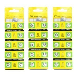 Bluecell 30 Pcs AG3 Alkaline Button Cell Battery 392A CX41 LR41W for Watch Toy Calculator