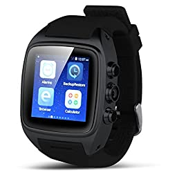Padgene Android 4.4.2 Watch Phone, Bluetooth 4.0, NFC, WiFi, 2.0MP Camera, Support 2G / 3G GSM Network, Black