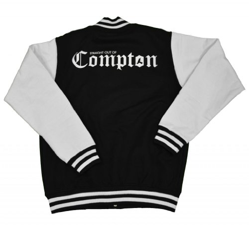21 Century Clothing Men'S Straight Out Of Compton Varsity Jacket Small Black