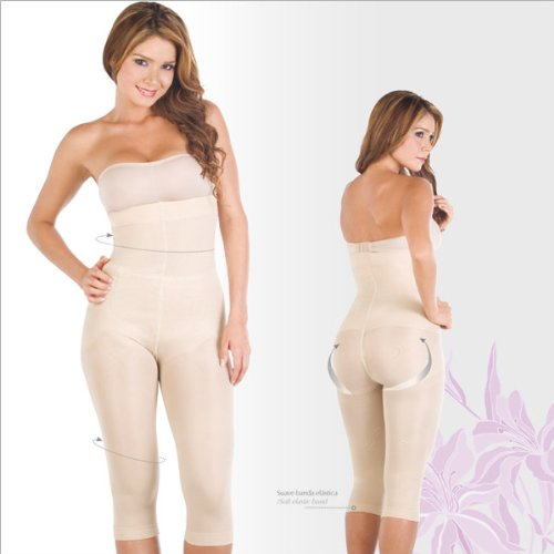 Shapewear For Women - Faja - Lycra - Nylon Braless Strapless. Capri type. Slimming Body Shapers Waist Cincher Reducer Clothing Fajas Colombianas