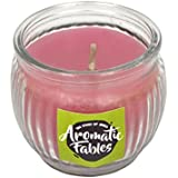 First Row Aromatic Fables 7oz Strawberry Fragrance Soy Wax Decorative Gifting Purple Color Round Glass Candle