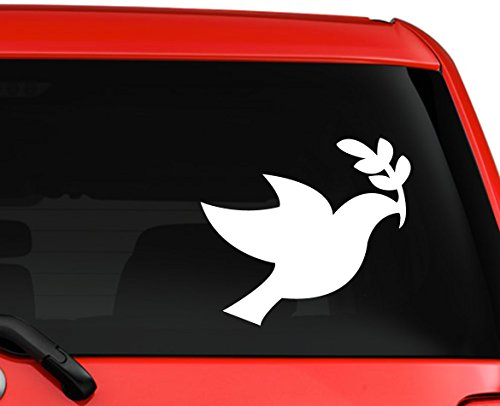 Dove Holy Spirit Religious silhouette car truck laptop macbook window decal sticker 6 inches white (Halloween Stores Spirit)