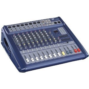 Pyle-Pro PMX808 8 Channel 600 Watts Digital Powered Stereo Mixer W/DSP