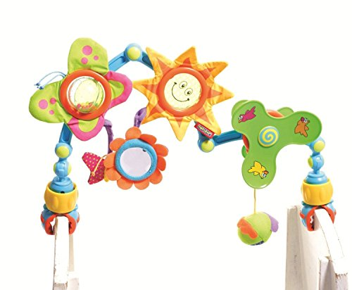 New Toy Tiny Love Take Along Arch Stroller Car Seat Travel Toy Teether-Sunny Stroll-New front-994625