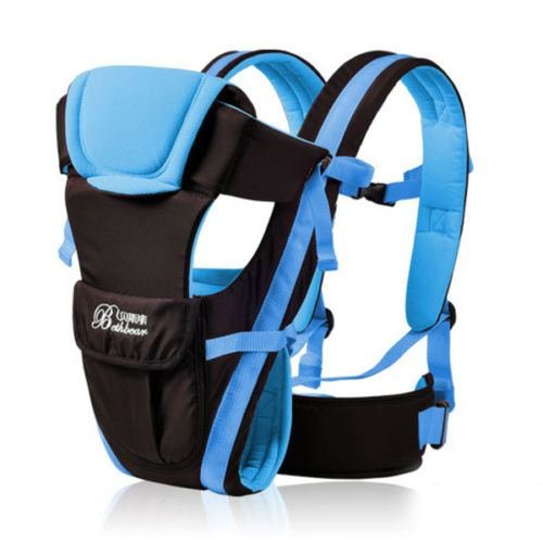 Baby Carrier Adjustable Infant Newborn Kid Comfort Wrap Rider Sling Backpack color Blue