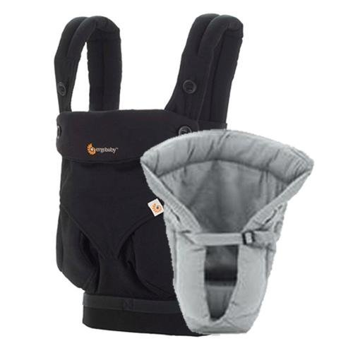 ergobaby Bundle of Joy Four Position 360 Carrier, Black with Grey Insert (Ergo Baby Carrier Four Position compare prices)