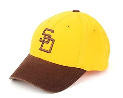 San Diego Padres MLB American Needle 1972 Cooperstown Pastime Replica Destructured Adjustable Cap