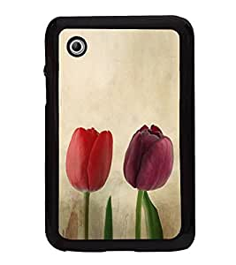 Colourful Tulips 2D Hard Polycarbonate Designer Back Case Cover for Samsung Galaxy Tab 2 :: Samsung Galaxy Tab 2 P3100
