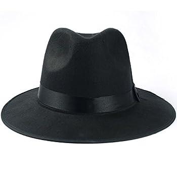 Medium Vintage Style Men's Hard Felt Wide Brim Fedora Trilby Panama Hat
