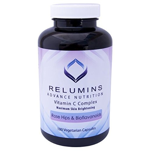 RELUMINS ADVANCE VITAMIN C - MAX SKIN WHITENING COMPLEX WITH ROSE HIPS & BIOFLAVINOIDS help to improve dark circles under the eyes, dull complexion and tired skin ,defend your skin against the damaging effects of stress, pollution, and even age itself. (Crystal Tomato Supplement compare prices)