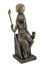 Egyptian Goddess Sekhmet Sitting on Throne Statue by Things2Die4