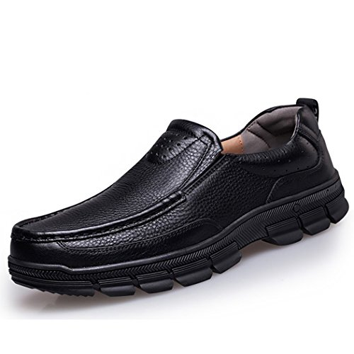 Autumn Melody Fashion Casual Business Genuine Leather Large Size Men Shoes Size 10.5 US Black (Running Spike Plugs compare prices)