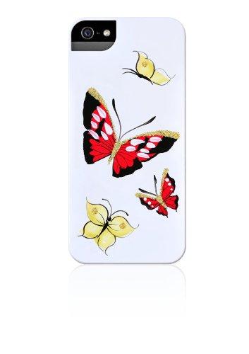iPhone 5;Copertina rigida;Custodia;Case; Per iPhone 5;Dipinto a mano;Big Butterfly; Rosso giallo