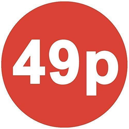 Audioprint Lot. Lot de 100stickers 49P Prix 30mm rouge
