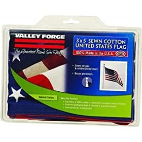 Valley Forge 3-Foot x 5-Foot Cotton U.S. Flag