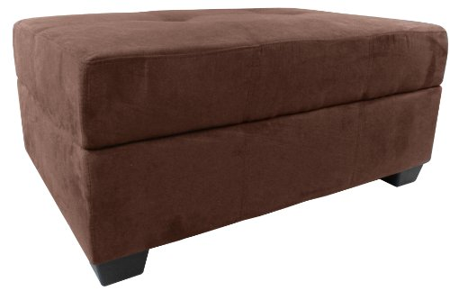 Epic Furnishings Vanderbilt 36 by 24 by 18-Inch Storage Ottoman Bench, Microfiber Suede Chocolate Brown (Microfiber Storage compare prices)