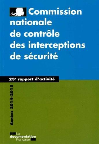 23e rapport 2015 - Commission nationale de contrôle des interceptions de sécurité