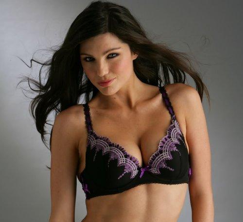 2ef021adfa Pour Moi Opulence Padded Gel Bra size 36A Black Purple