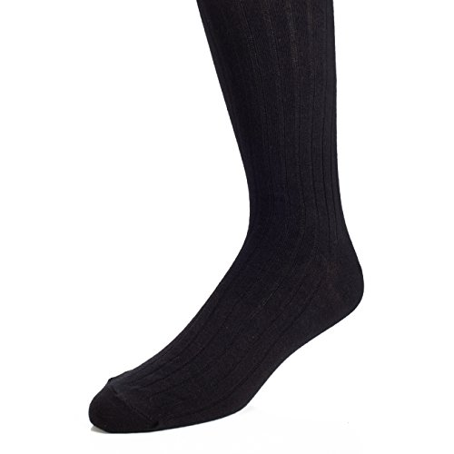 The Right Fit Novelty Men's 80% Cotton, Athletic, Ribbed Crew Socks- High Sweat Absorbents for Athletes and Sports Players- Black- Size 12-15- 1 Pack