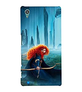 EPICCASE Girl with Bow and Arrow Mobile Back Case Cover For Sony Xperia Z5 Premium / Z5 Plus (Designer Case)