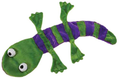 Picture Grriggles Unstuffy Lizard Pet Toy, Green