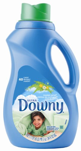 Downy Ultra Liquid Fabric Softener, Mountain Spring Scent, 40-Load Bottle (Pack of 6)