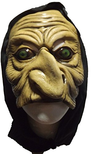 Witch Mask Latex Creepy Scary Halloween Costume Mask 1/2 Face Chinless (The Spirit Of Halloween Store Locations)