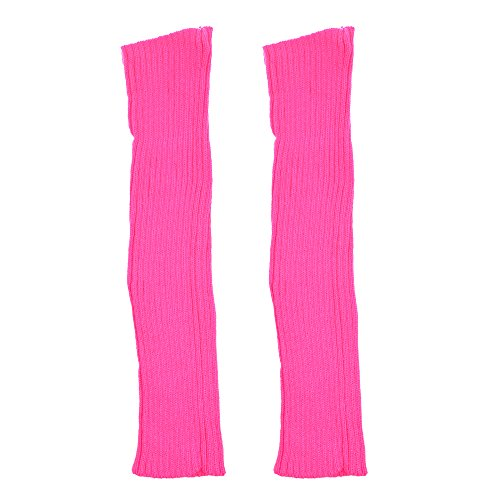 cosmos bright color warm and fashionable stretchy women 39 s girls 39 ribbed leg warmers hot pink. Black Bedroom Furniture Sets. Home Design Ideas