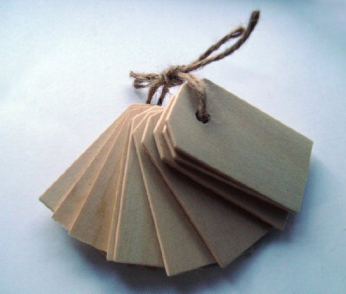 Wood Gift Tags / Blank Wooden Tags for Wine, Decor, Weddings (Pkg of 50)