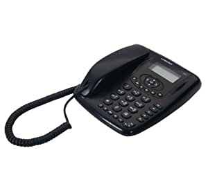 Logicom Aero50 Téléphone filaire Présentation du numéro de l'appelant Mains-libres Noir