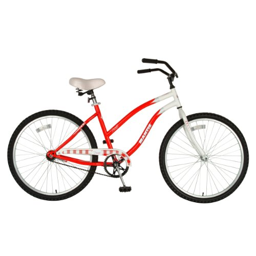 Mantis Women's Picnic Cruiser Bicycle (Red/White, 26-Inch)
