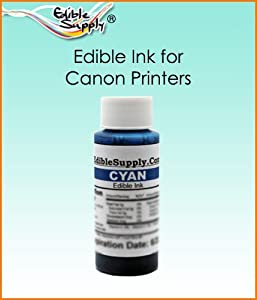 Edible Supply 2 oz Cyan Edible Ink Refill Bottle for All Canon Printers