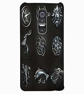 ColourCraft Warrior Symbols Design Back Case Cover for LG G2