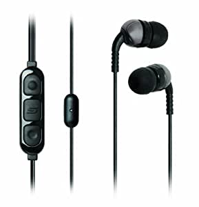 SCOSCHE idr303mdpc Increased Dynamic Range Earphones with slideLINE Control Technology - Retail Packaging - Black
