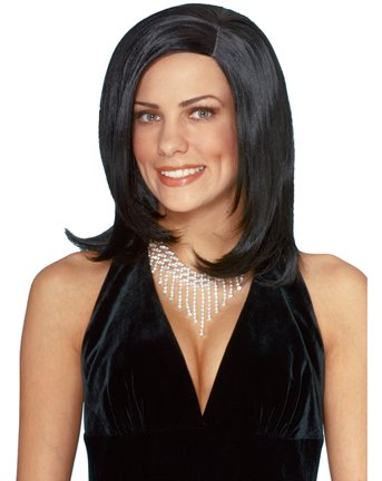 High Society Wig (Black) Adult Halloween Costume Accessory